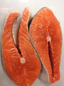 Alaskan salmon, caught this morning!