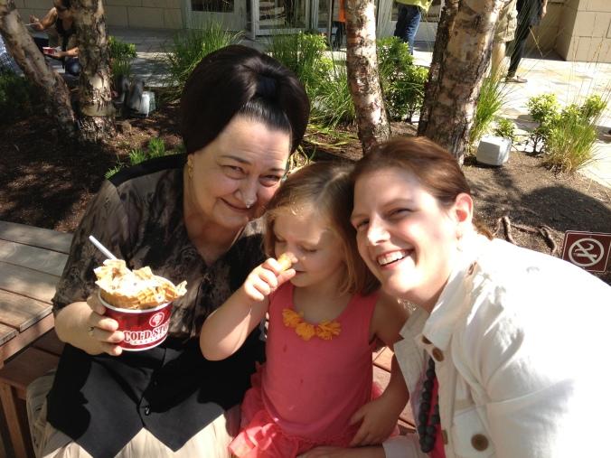 Generations: My mom, my daughter, my granddaughter