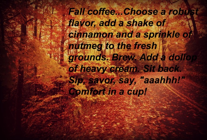 Fall leaves coffee