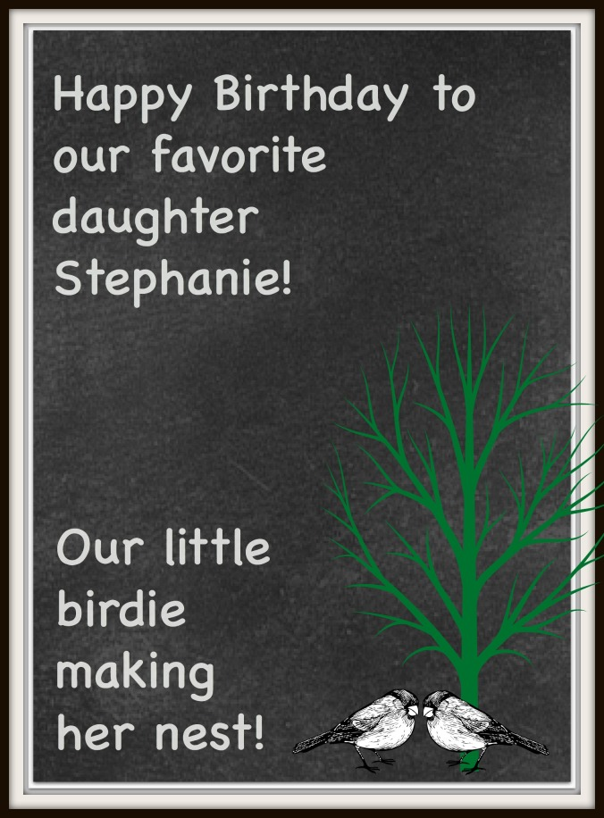 Stephanie's Birthday card